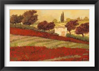 Papaveri Toscana I Framed Print