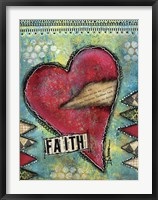 Faith Heart Framed Print