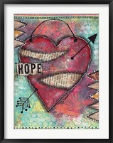 Framed Hope Heart
