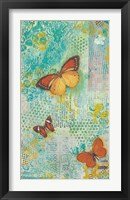 Sunset Butterflies Framed Print