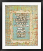 Framed Lords Prayer