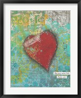 Trust Heart Framed Print
