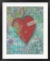Joy Heart Framed Print