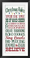 Framed Christmas Rules