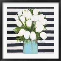 Framed White Tulips