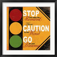 Stop Light Framed Print
