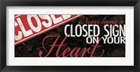 Closed Heart Framed Print