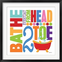 Bathe Framed Print
