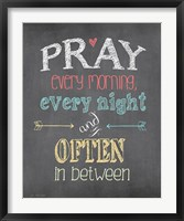 Pray Often Framed Print