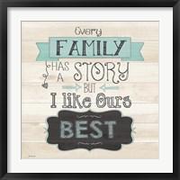 Story Framed Print