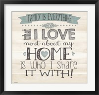 Everything Framed Print