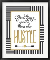 Faux Gold Hustle Framed Print