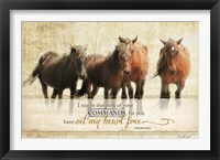 I Run Framed Print