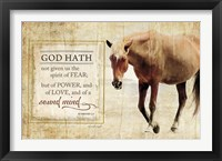 God Hath Framed Print