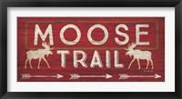Moose Trail Framed Print