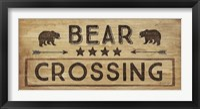 Bear Crossing Framed Print