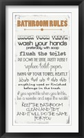 Framed Bathroom Rules