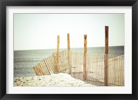Framed Wooden Beach Fence