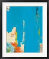Framed Aqua Tide