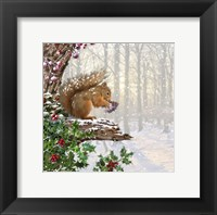 Framed Christmas Squirrel