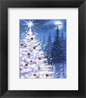Framed White Xmas Tree