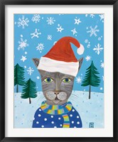Framed Holiday Cat