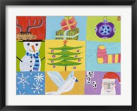 Framed Nine Christmas Squares