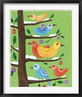 Six Christmas Birds Framed Print