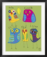 Framed Owls 3