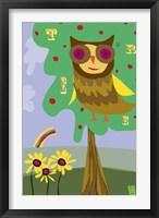 Owl In Tree Framed Print