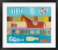 Red Horse Framed Print