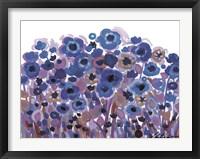 Framed Blue Blooming Garden