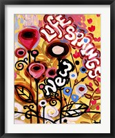 New Life Springs Flowers Framed Print