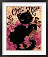 Framed Le Chat Noir