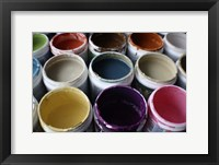 Color Cups & Tape 3 Framed Print