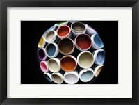 Color Cups & Tape 5 Framed Print