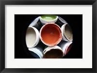 Color Cups & Tape 12 Framed Print