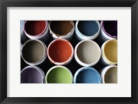 Color Cups & Tape 21 Framed Print