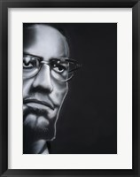 Framed Portrait of Malcolm X