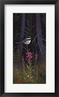 Fireweed Chickadee Framed Print