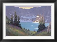 Framed Iceberg Lake