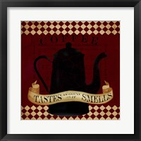 Coffee Red Tastes As Good Framed Print
