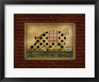 Spotted Pig Framed Print