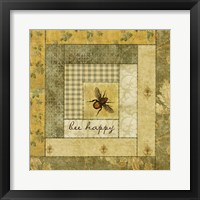 Framed Bee Happy Quilt