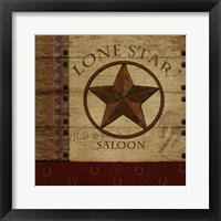 Framed Lone Star Saloon