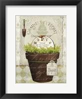 Herb Pot Thyme Framed Print