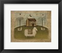 Framed Log Cabin Sheep