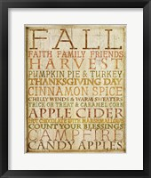 Fall Subway Art Framed Print