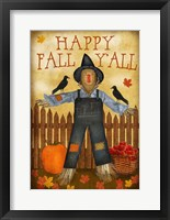 Happy Fall Y'all Framed Print