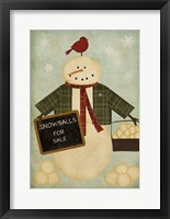 Framed Holiday Snowballs